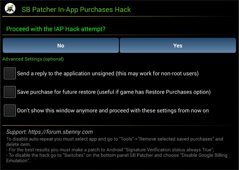 🎮 MOD APK - SB Patcher Official v9 8 9 8 stable [Sbenny