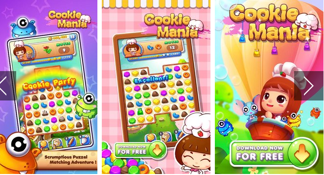 Cookie Mania Cooking Match APK Android