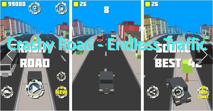 Crashy Straße Endlose Verkehr
