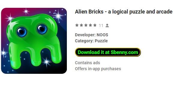 Alien Bricks ein logisches Puzzle und Arcade