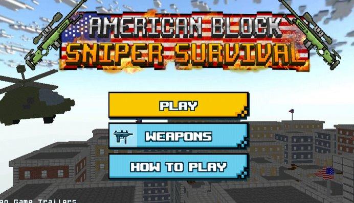 supervivencia del francotirador del bloque americano
