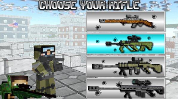 americano bloque francotirador supervivencia APK Android