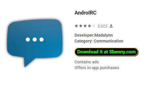 AndroIRC MOD APK Android Free Download