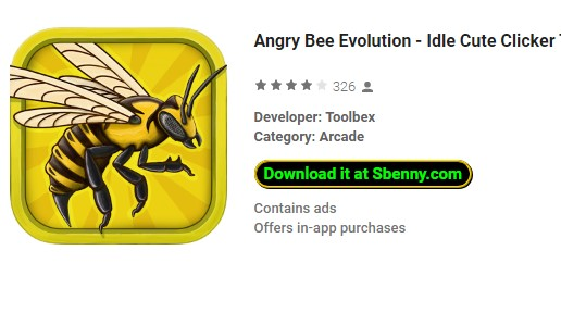 🎮 MOD APK - Angry Bee Evolution - Idle Cute Clicker Tap