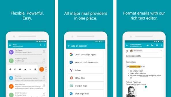 Приложение для электронной почты aquamail APK Android