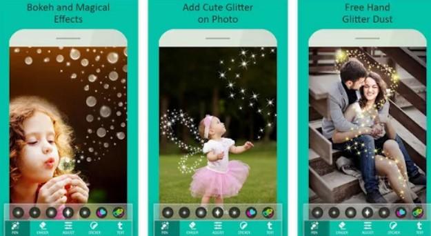 kunstvolle Foto-Glitzer-Effekte APK Android