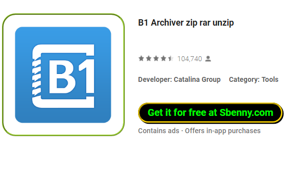B1 Archiver zip rar unzip MOD APK Android Free Download