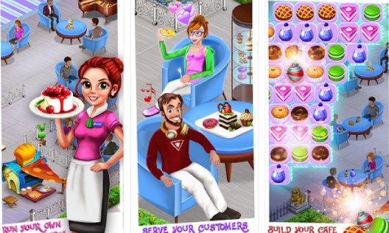 bakery shop restaurant match 3 game APK ANdroid