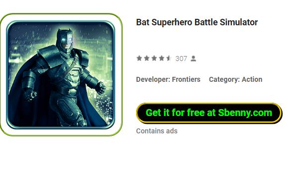 Fledermaus-Superheld-Schlacht-Simulator