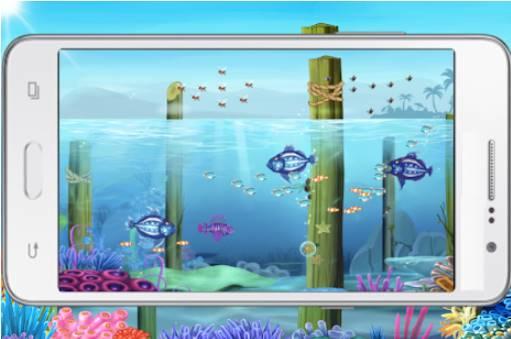 peces grandes comen pequeños peces APK Android