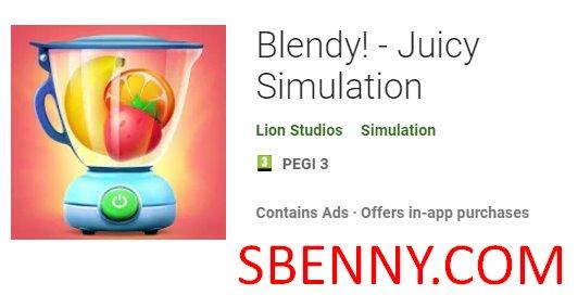 simulación jugosa blendy