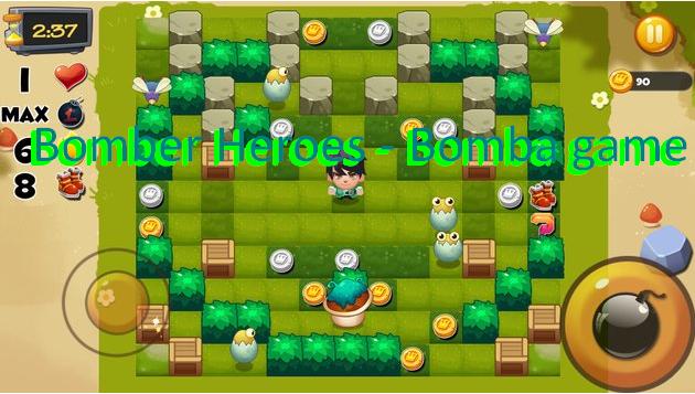 bombardero juego de héroes bomba