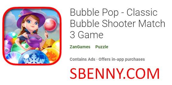 bulle pop classique jeu de tir à bulles match 3
