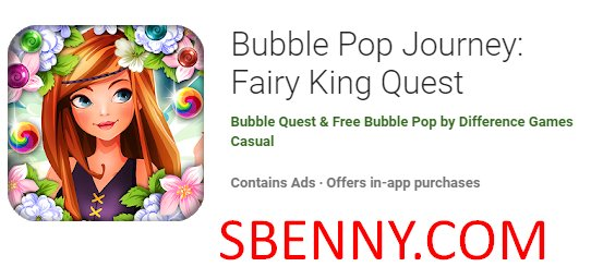 bubble pop journey fairy king quest