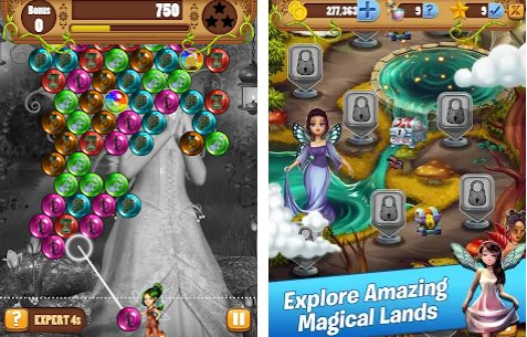bubble pop journey fairy king quest APK Android