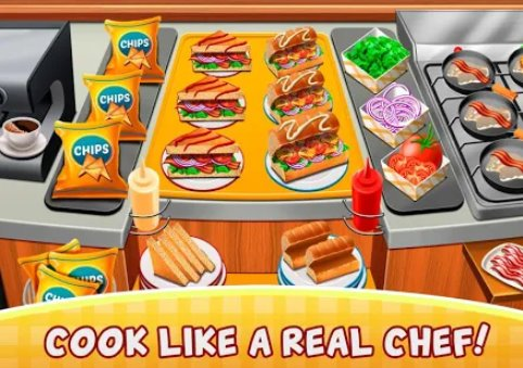 cafe fever food restaurant and cooking games girls APK Android