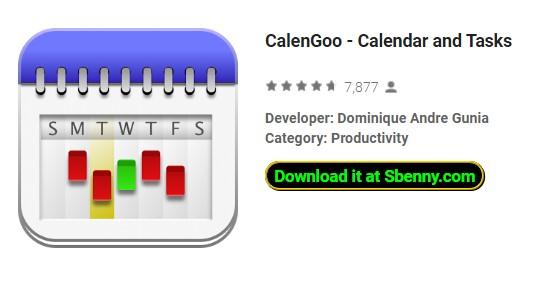 calendário e tarefas de Calengoo