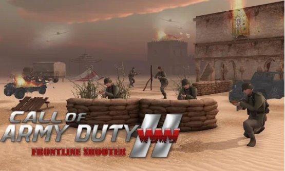 chamada de dever do exército ww2 frontline shooter
