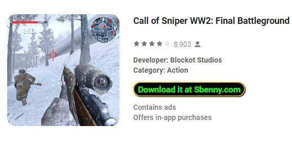 llamada de sniper ww2 campo de batalla final