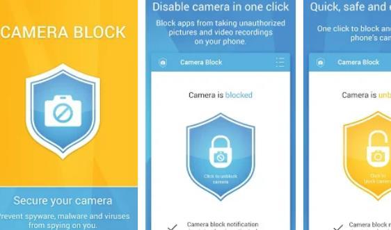 카메라 블록 스파이웨어가 APK Android를 보호합니다.