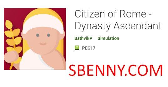 ciudadano de la dinastía roma ascendente