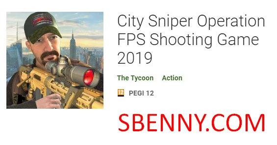 francotirador de la ciudad operación fps juego de disparos 2019
