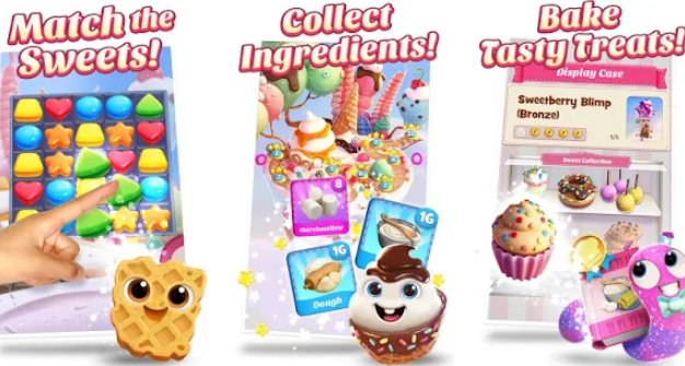 marmellata di biscotti esplosione nuova partita 3 gioco di puzzle saga APK Android