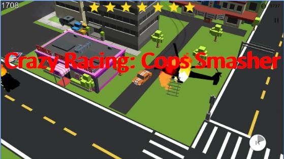 carrera loca policías acelerador