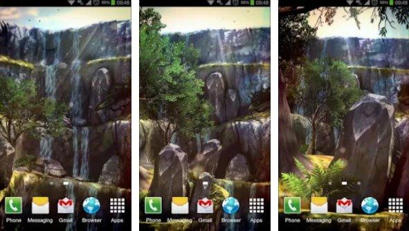 3D водопад про lwp APK Android