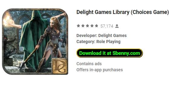 delizia giochi gioco di scelte di biblioteca