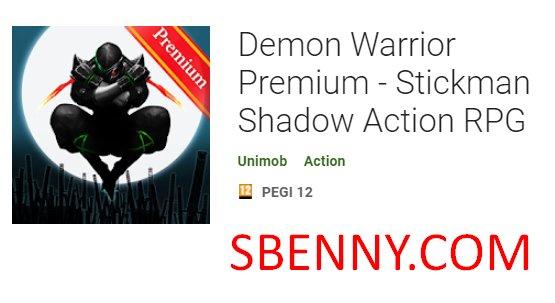 demonio guerrero premium stickman sombra acción rpg