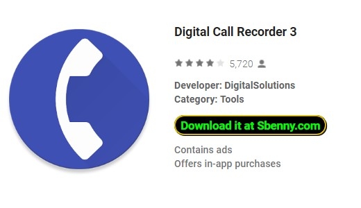 Digital Call Recorder 3 Unloked MOD APK Android Download