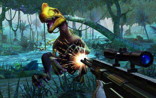Dino Hunter: SHORES fatali MOD APK Android logħba Download Free