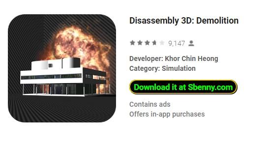 disassembly 3d demolition hack apk