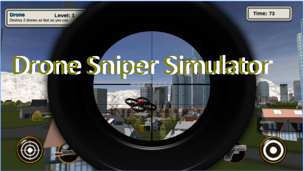 simulador de aviones no tripulados francotirador