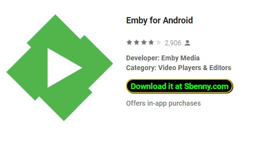 Emby for Android MOD APK Android Free Download