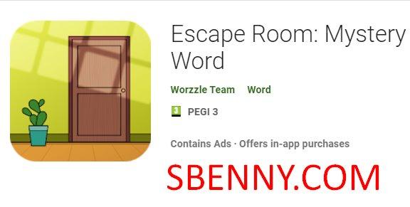 palabra misteriosa sala de escape