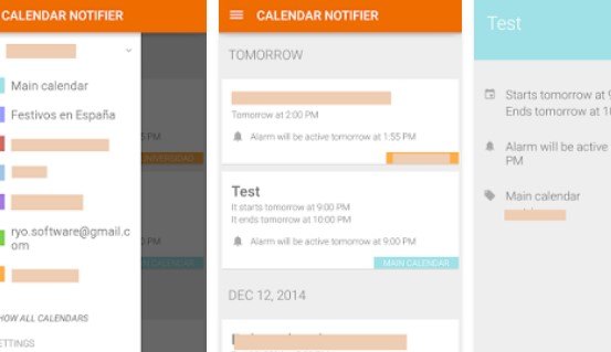 events notifier for calendar APK Android
