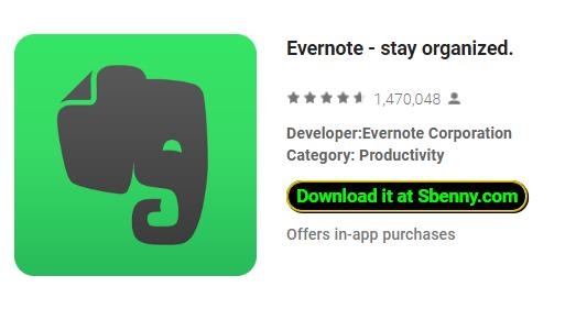 Evernote - stay organized  MOD APK Android Download