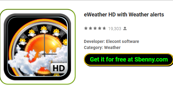 eWeather HD with Weather alerts MOD APK for Android Download
