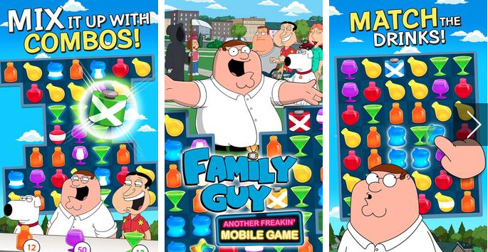 family guy de jeu mobile de freakin