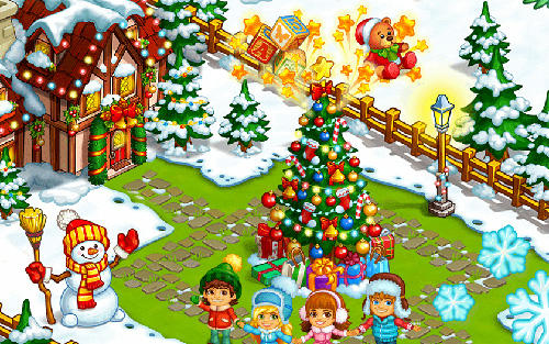 farm snow happy christmas story with toys and santa APK Android
