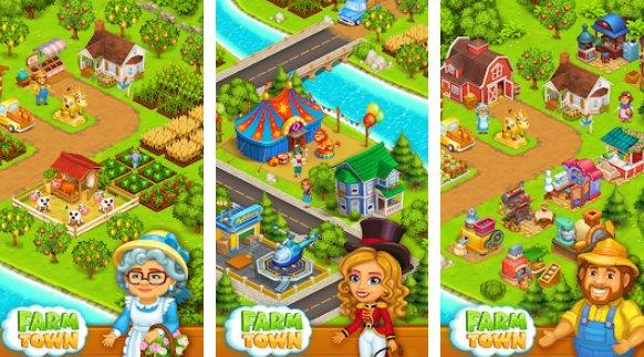 Farm Town Happy Village in der Nähe von kleinen Stadt und Stadt APK Android