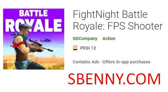 FPS-Shooter für Battle Royale in der Nacht