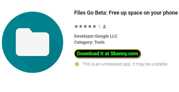 Files Go Beta:Free up space on your phone APK Android