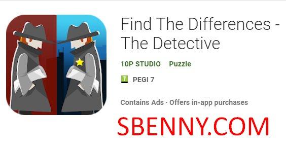 Finde die Unterschiede des Detektivs