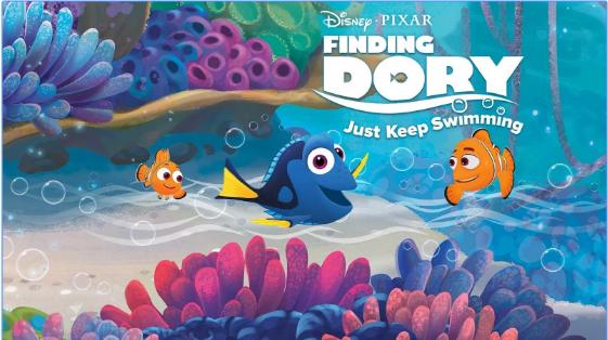 la búsqueda de la natación, mantienen Dory