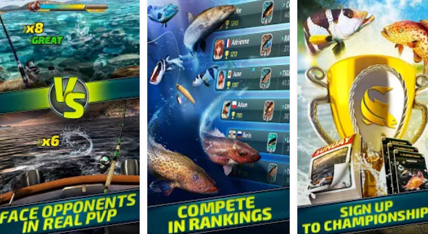 fishing clash catching fish game hunting fish 3d APK Android