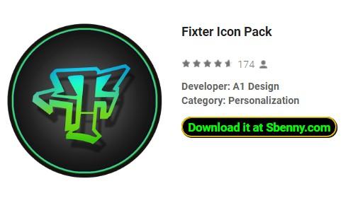 Fixiermittel-Icon-Paket