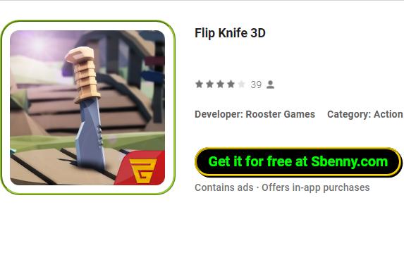 флип-нож 3d